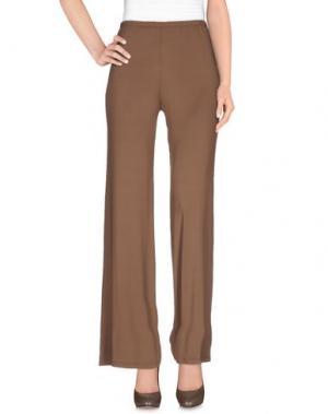 Повседневные брюки DANIELA DREI. Цвет: коричневый