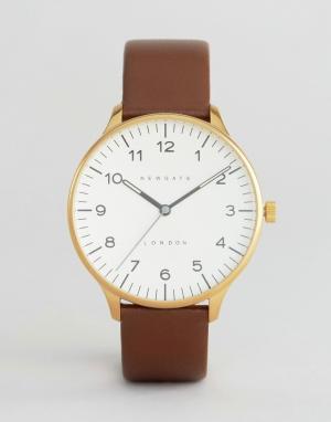 Newgate Часы кремового цвета с коричневым кожаным ремешком Blip. Цвет: коричневый
