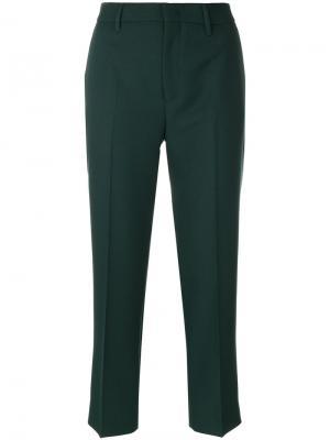 Укороченные брюки Prada. Цвет: зелёный