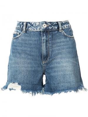 Джинсовые шорты Paige. Цвет: синий