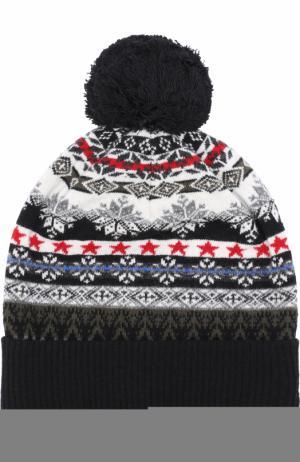 Шерстяная шапка с помпоном Gemma. H. Цвет: разноцветный