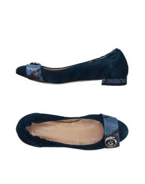 Балетки ANNA F.. Цвет: темно-синий