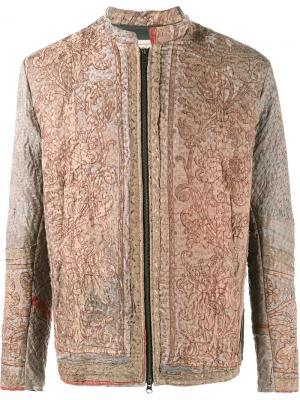 Куртка с вышивкой By Walid. Цвет: коричневый