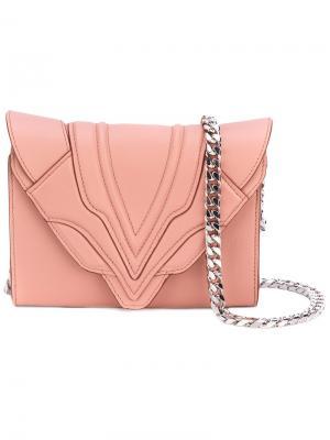 Сумка на плечо Sensua Elena Ghisellini. Цвет: розовый и фиолетовый