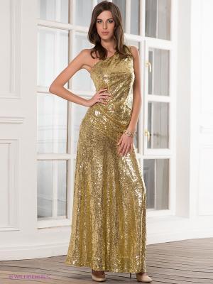Платье Goddess London. Цвет: золотистый