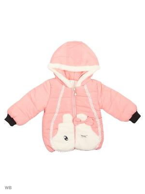 Куртка Happy Bear. Цвет: бледно-розовый, розовый