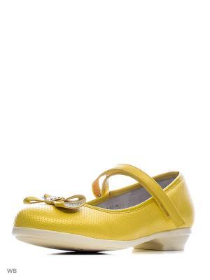 Туфли Vitacci. Цвет: желтый