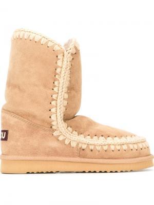 Зимние ботинки Eskimo Mou. Цвет: телесный