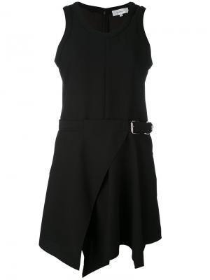 Расклешенное платье с поясом Carven. Цвет: чёрный