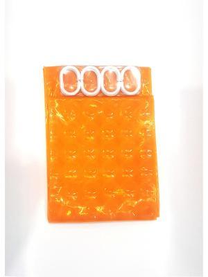 Шторы для ванны эффект 3Д NeKi. Цвет: оранжевый, желтый