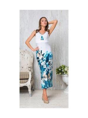 Платье Cariba. Цвет: бирюзовый