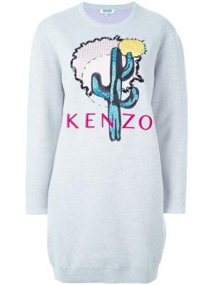 Платье-толстовка Cactus Kenzo. Цвет: серый