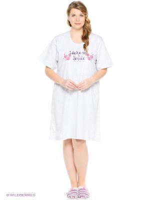Ночная сорочка Vienetta Secret. Цвет: серый