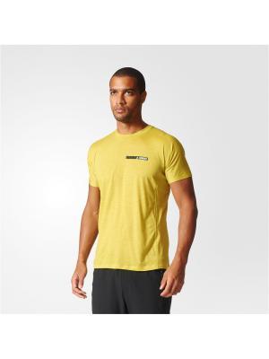 Футболка спортивная муж. AGRAVIC TEE Adidas. Цвет: желтый