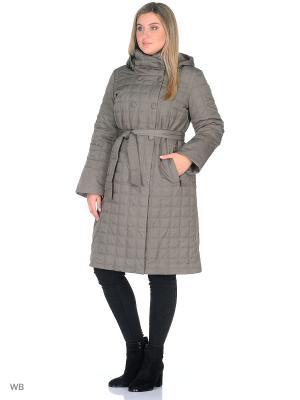 Пальто Romantic Collection.. Цвет: серо-коричневый