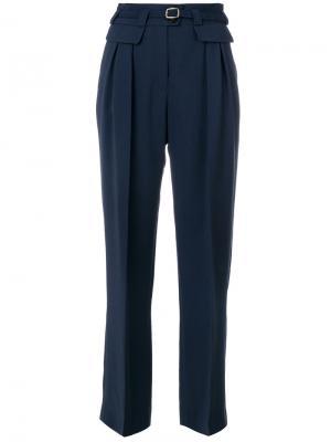 Прямые брюки с поясом A.P.C.. Цвет: синий