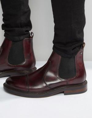 Base London Кожаные ботинки челси Edison. Цвет: красный