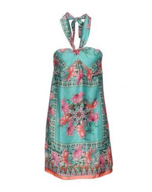 Короткое платье KOOKAI. Цвет: бирюзовый