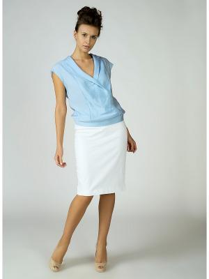 Блузка MAYAMODA. Цвет: голубой
