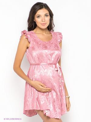 Платье для беременных 40 недель. Цвет: розовый