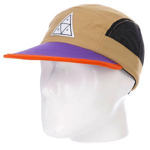 Бейсболка пятипанелька  Scout Volley Tan/Purple Huf. Цвет: бежевый,фиолетовый,черный