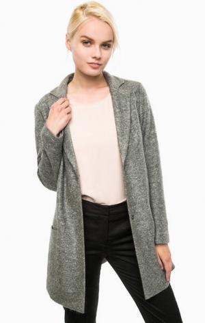 Пальто с двумя карманами на кнопках Cinque. Цвет: серый