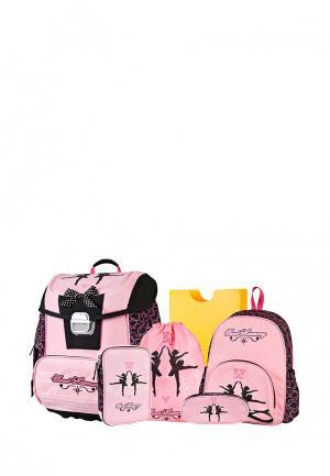 Комплект школьный Target. Цвет: розовый