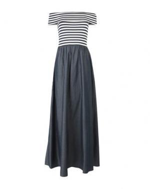 Длинное платье LIU •JO. Цвет: темно-синий