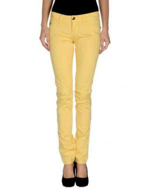 Повседневные брюки CHIRIBIRI. Цвет: желтый
