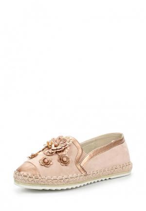 Слипоны Sweet Shoes. Цвет: розовый