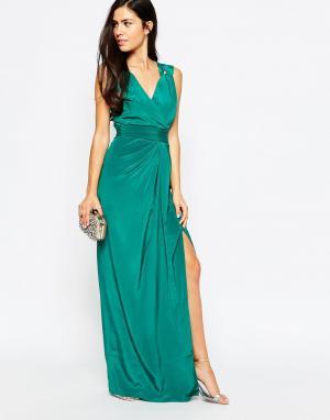 VLabel London Платье макси Palmers. Цвет: синий