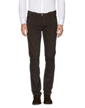 Повседневные брюки BARBA Napoli. Цвет: темно-коричневый