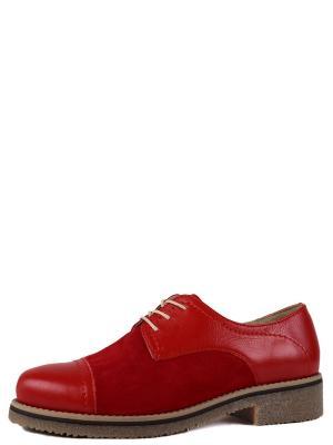 Туфли BERG. Цвет: красный