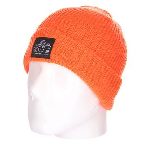Шапка  Arketype Orange Krooked. Цвет: оранжевый