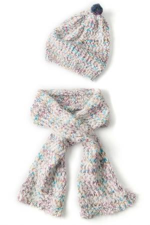 Комплект: шапка, шарф I love to dream. Цвет: голубой