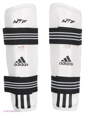 Защита голени для тхэквондо Adidas. Цвет: белый, черный
