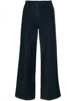 Широкие джинсы The Row. Цвет: синий