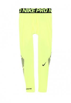 Тайтсы Nike. Цвет: желтый