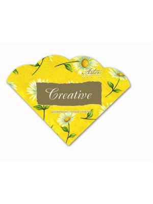 Салфетки Creative round 32х32 см, Солнечная ромашка, 3-слойные, 12 шт./уп Aster. Цвет: желтый