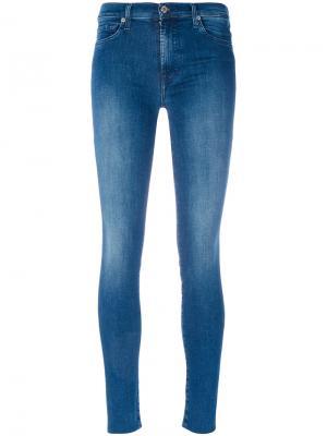 Классические облегающие джинсы 7 For All Mankind. Цвет: синий