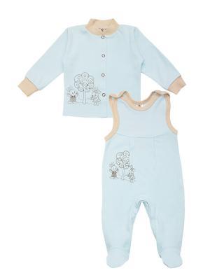 Комплект одежды: полукомбинезон, кофточка Коллекция Зайкина любовь КОТМАРКОТ. Цвет: голубой