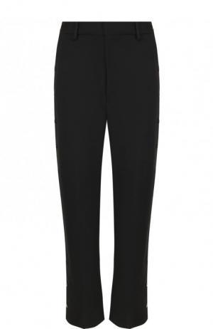 Укороченные расклешенные брюки со стрелками Mm6. Цвет: черный