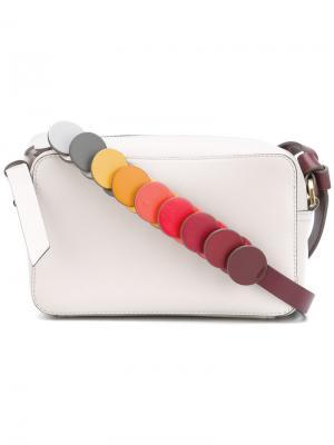 Colour block strap shoulder bag Anya Hindmarch. Цвет: телесный