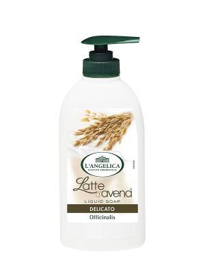 Жидкое мыло СМЯГЧАЮЩЕЕ  с экстрактом овса 300 мл L'Angelica. Цвет: бежевый