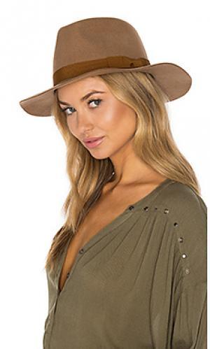 Шляпа федора indiana Brixton. Цвет: цвет загара