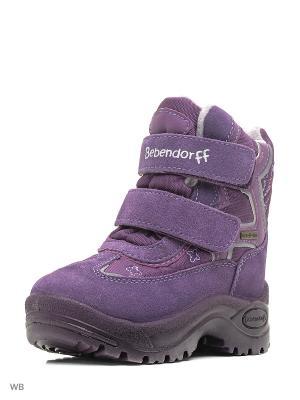 Ботинки Bebendorff. Цвет: фиолетовый