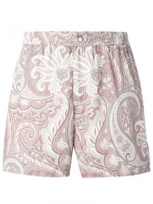 Пляжные шорты Brioni. Цвет: розовый и фиолетовый