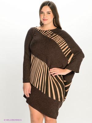 Платье МадаМ Т. Цвет: коричневый, бежевый