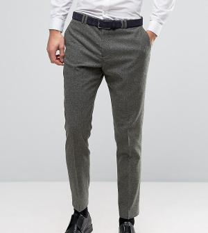 Noak Шерстяные узкие брюки в крапинку. Цвет: зеленый