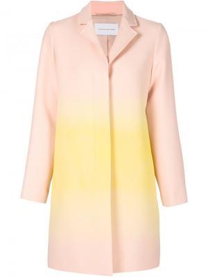 Пальто с градиентным принтом Jonathan Saunders. Цвет: розовый и фиолетовый